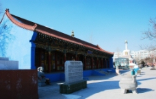 通辽大乐林寺建筑风景图片