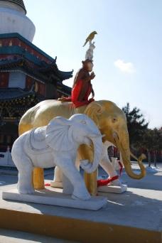 大乐林寺金象雕塑图片