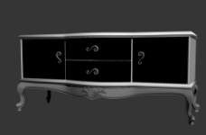 电视柜模型图片