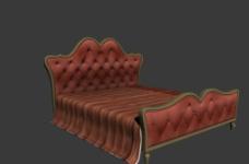 欧式床模型图片