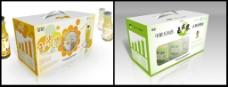 饮料包装箱(展开图)图片