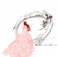 穿婚纱的美丽新娘