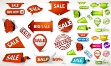 商场超市商品促销标签贴纸矢量素材