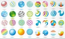 圆形主题设计元素矢量素材