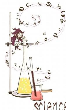 做化学实验的精灵女孩