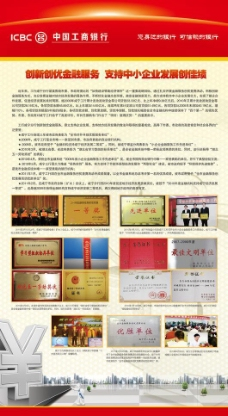 中国工商银行展板图片