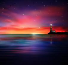 海洋燈塔圖片