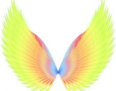 光束翅膀图片