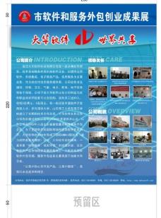软件服务外包展板图片