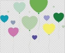 爱心气球墙贴图片