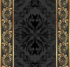 歐式花紋背景圖片