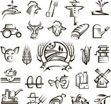 农村农家田园图标图片