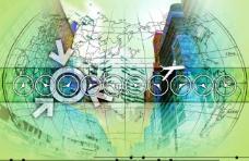 数位城市 科技背景图片