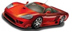 红色跑车 汽车图片