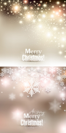 璀璨圣诞海报矢量模板