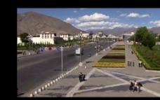 拉萨街道公路视频