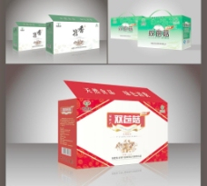 香菇包装 包装设计(展开图)图片