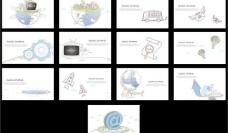 商务元素 商务背景图片