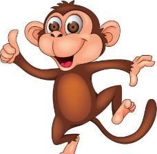 猴子卡通动物图片
