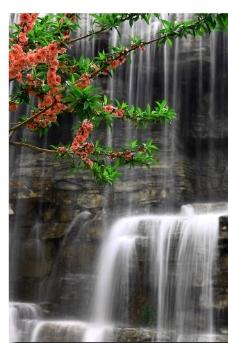溪水瀑布图片