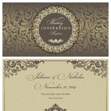 古典花纹 婚卡图片