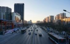 城市黄昏图片