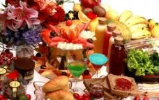 丰盛食物图片