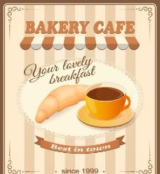 咖啡面包图片