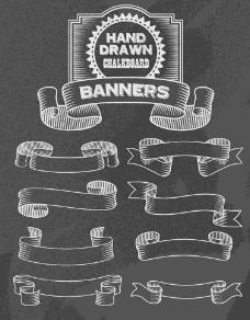 欧式复古丝带横幅图片