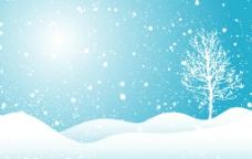 雪花雪地图片