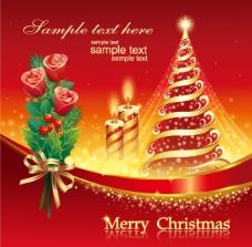 红色圣诞海报圣诞素材