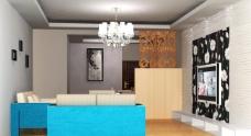 简约客厅3d模型图片