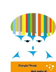 色彩人物海报图片