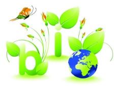 綠色環保促銷 循環使用 地球 蝴蝶 字母