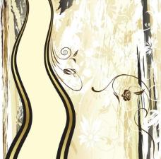 手绘墨迹花纹 底纹 动感线条图片