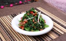 陈醋菠菜花生米图片