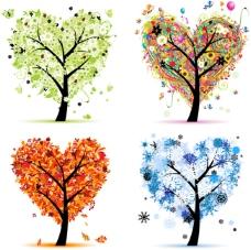 创意心形树木
