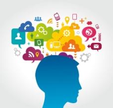 大腦思維創意圖標圖片