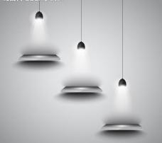 空白灯光照明广告牌图片