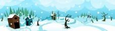 卡通冬季雪景图片