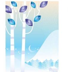 冬季树木背景图片