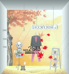 秋季橱窗图片