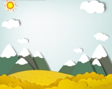 卡通雪山风景图片