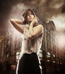 都市夜女郎图片