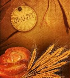 麥穗面包圖片