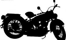 摩托车剪影图片