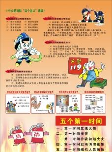 消防宣传单图片