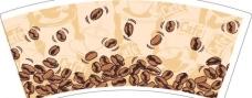 环保纸杯 咖啡豆图片