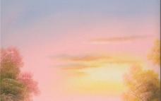 天空 云彩 油画图片