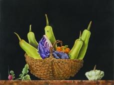 涓夋湡 CCC 177花卉水果蔬菜器皿静物印象画派写实主义油画装饰画